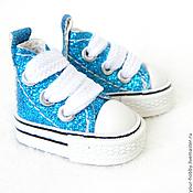 Материалы для творчества ручной работы. Ярмарка Мастеров - ручная работа Кеды 3,8см. Очень маленькие!! Обувь для кукол.. Handmade.