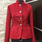 Одежда ручной работы. Ярмарка Мастеров - ручная работа Куртка из замши. Handmade.