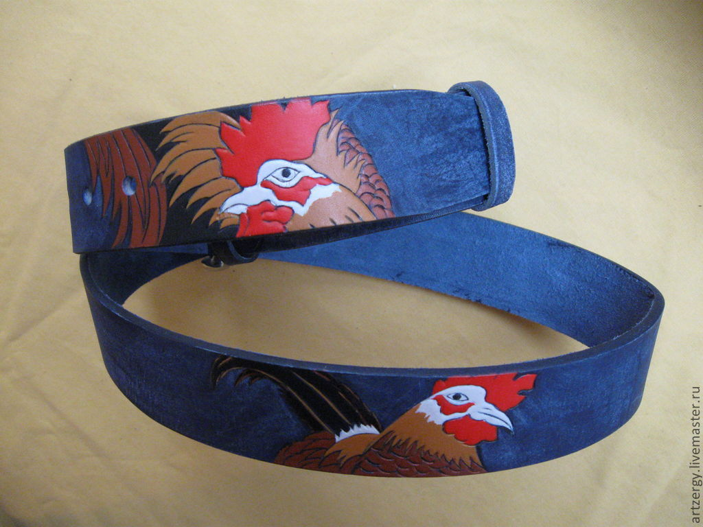 strap leather 'Cocks', Straps, Moscow,  Фото №1