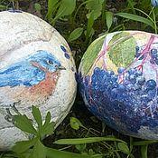 """Для дома и интерьера ручной работы. Ярмарка Мастеров - ручная работа Камни """"Птичка с ягодами"""". Handmade."""
