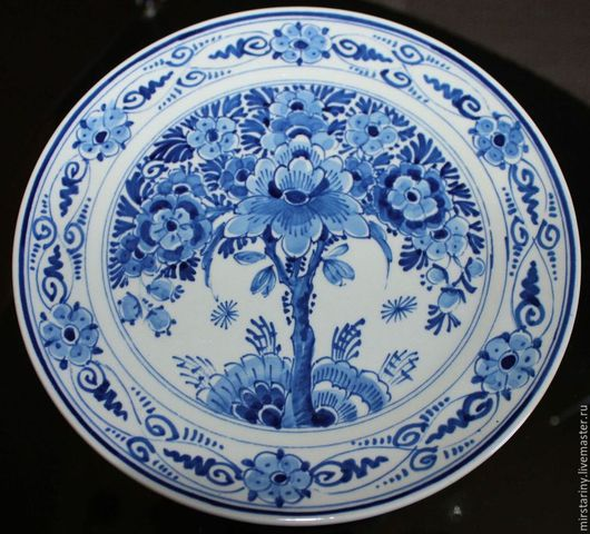 Винтажные предметы интерьера. Ярмарка Мастеров - ручная работа. Купить Три очаровательные настенные тарелки, 100% Delft , Голландия, 1960-г.. Handmade.