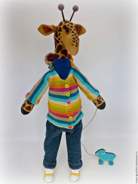 Игрушки животные, ручной работы. Ярмарка Мастеров - ручная работа. Купить Жирафик Сеня. Handmade. Комбинированный, малыш жираф