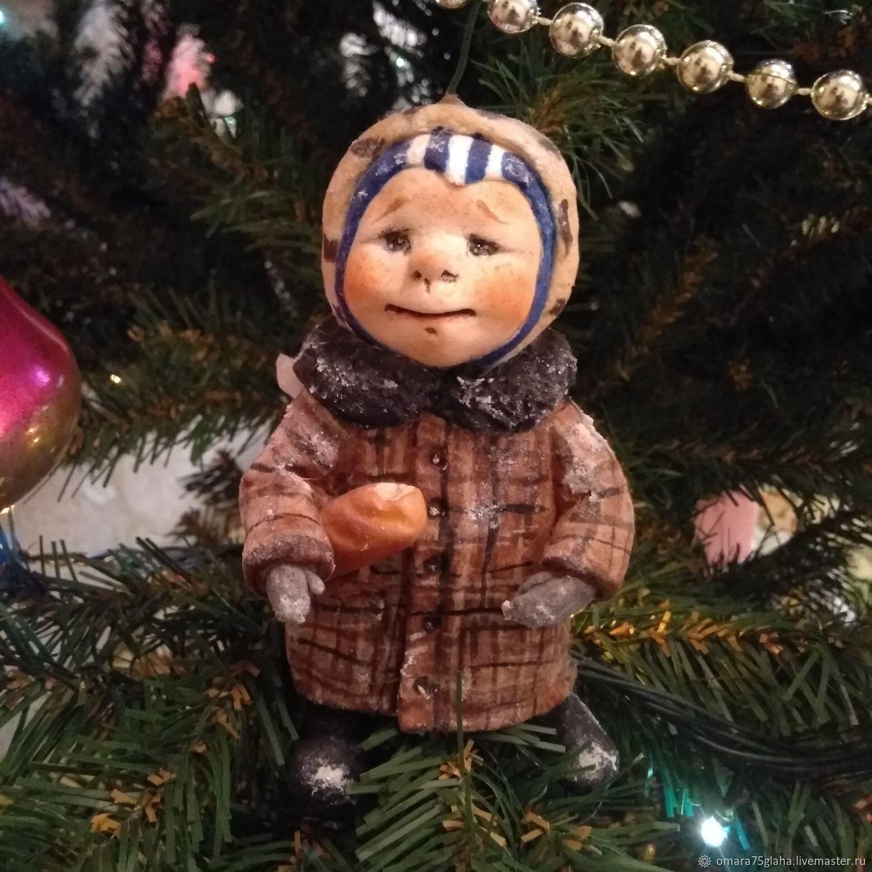 Cotton toy angel in winter Artemka, Christmas decorations, Kaluga,  Фото №1