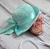 """Работы для детей, ручной работы. Ярмарка Мастеров - ручная работа Аксессуары для фотосессий новорожденных шляпка """" Оливия"""". Handmade."""