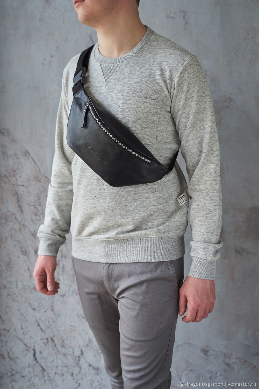 Men's chest bag 'Foster' (Black), Men\'s bag, Yaroslavl,  Фото №1