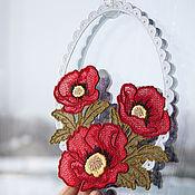 Для дома и интерьера handmade. Livemaster - original item The decoration on the window Poppies.. Handmade.