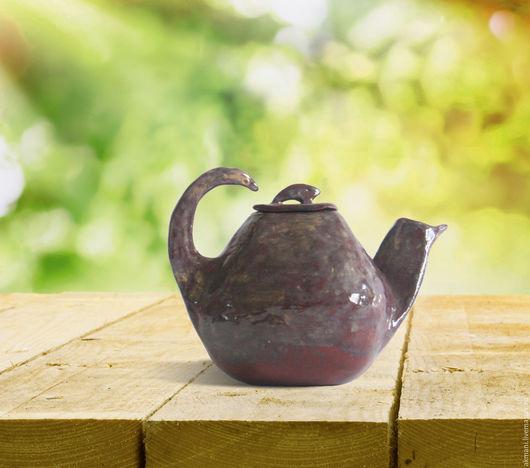 Чайники, кофейники ручной работы. Ярмарка Мастеров - ручная работа. Купить Кунг-фу чайник. Handmade. Коричневый, подарок, Керамика