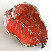 Для дома и интерьера handmade. Livemaster - original item Ceramic sheet Fire. Handmade.