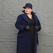 Пальто демисезонное классическое темно-синее. Арт. 1238