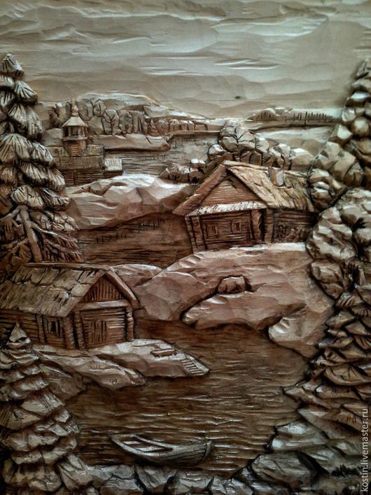 Пейзаж ручной работы. Ярмарка Мастеров - ручная работа. Купить Тишина. Handmade. Пейзаж, картина из дерева