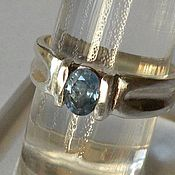 Украшения handmade. Livemaster - original item Rough 0.84 K sapphire & 925 sterling silver ring. Handmade.