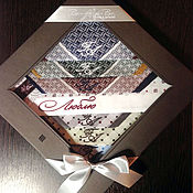 Аксессуары ручной работы. Ярмарка Мастеров - ручная работа Носовой платок  с вышивкой Монограмма Набор Любовь. Handmade.
