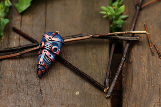 Кулоны, подвески ручной работы. Ярмарка Мастеров - ручная работа. Купить Кулон Маска чумного доктора синий. Handmade.
