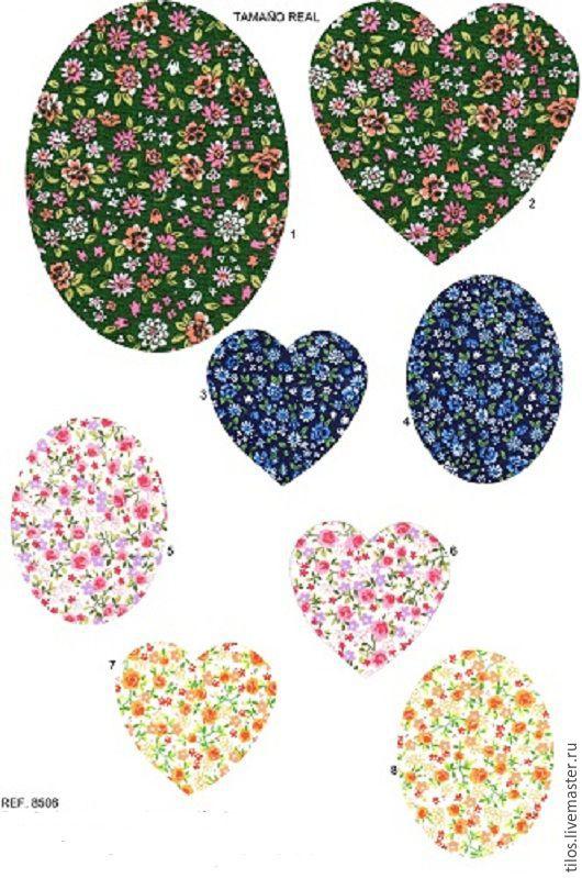 Аппликации, вставки, отделка ручной работы. Ярмарка Мастеров - ручная работа. Купить Термозаплатка  мелкие цветочки 8 вариантов. Handmade.