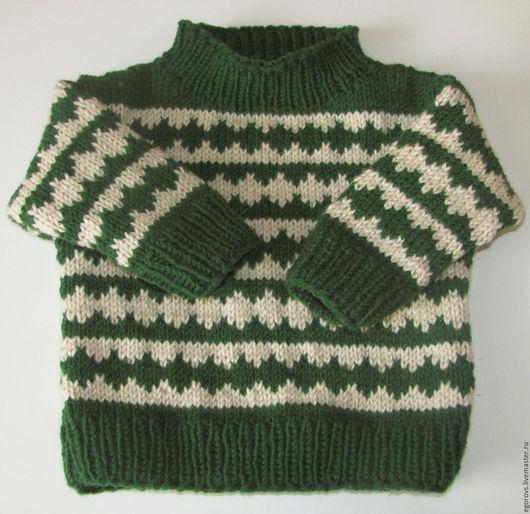 Одежда для мальчиков, ручной работы. Ярмарка Мастеров - ручная работа. Купить Джемпер для малыша. Handmade. Тёмно-зелёный, теплый
