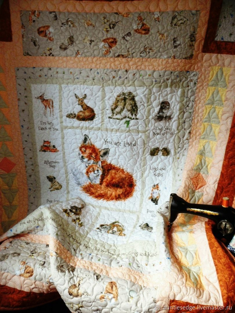 """Одеяло лоскутное стеганое """"Такая любовь!"""", Одеяла, Курск,  Фото №1"""