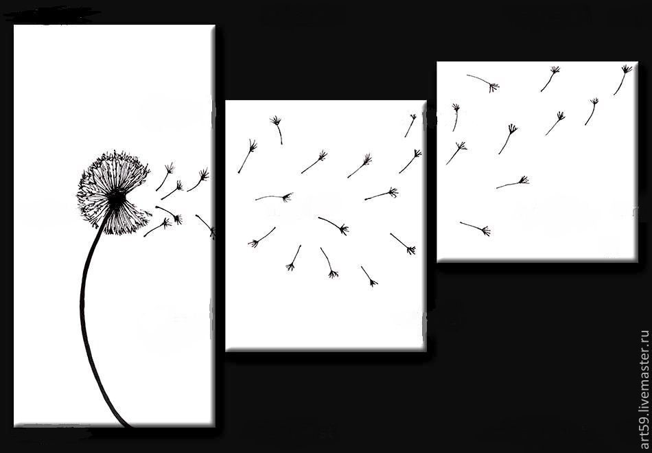Triptych 'The Dandelion', Pictures, St. Petersburg,  Фото №1
