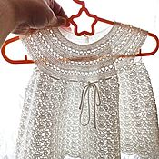 handmade. Livemaster - original item Dress: White lace dress for girls 12-18 months old. crocheted dress. Handmade.
