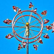 Для дома и интерьера ручной работы. Ярмарка Мастеров - ручная работа Ветряная кинетическая скульптура Tres. Handmade.
