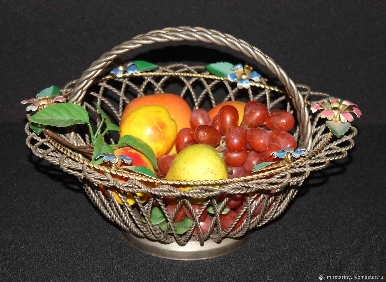 Decorative, interior fruit vase, metal, handmade, Vintage interior, Moscow,  Фото №1