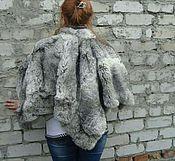 Одежда ручной работы. Ярмарка Мастеров - ручная работа Пончо меховое. Handmade.