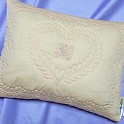 Для дома и интерьера handmade. Livemaster - original item Children`s pillow with a monogram. Handmade.