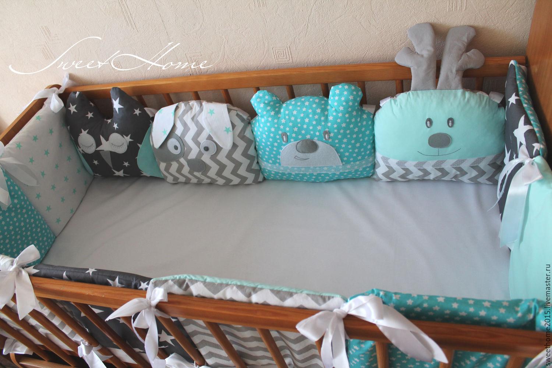Бортики в детскую кроватку для новорожденных своими руками 22