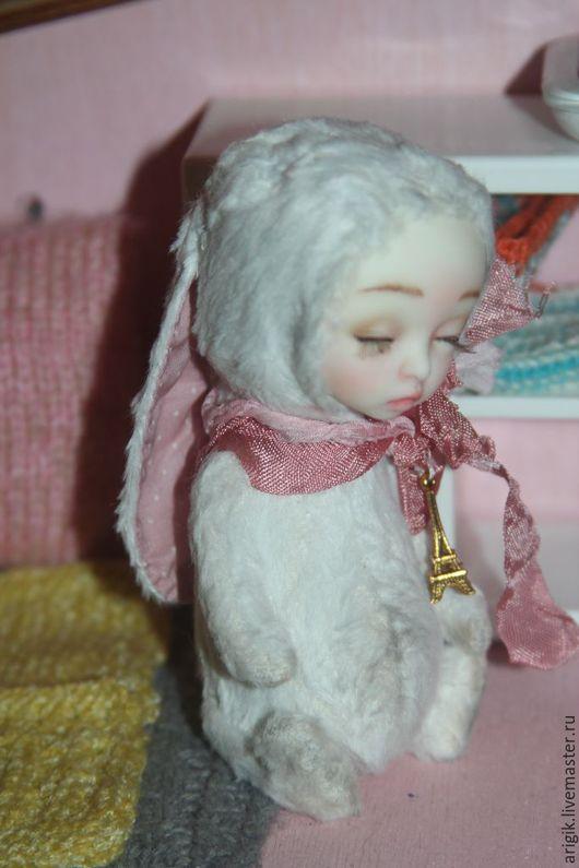 Мишки Тедди ручной работы. Ярмарка Мастеров - ручная работа. Купить Зайка тедди долл белая. Handmade. Белый