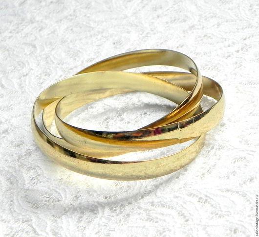 Винтажные украшения. Ярмарка Мастеров - ручная работа. Купить Браслет Три кольца,браслеты,кольца,круг,винтажная бижутерия. Handmade.