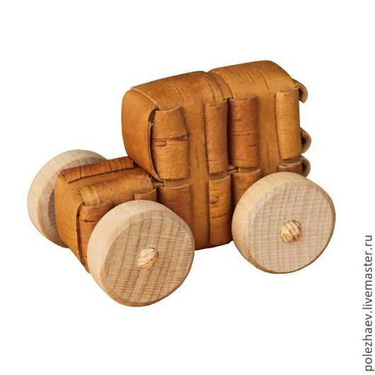 Развивающие игрушки ручной работы. Ярмарка Мастеров - ручная работа. Купить Берестяная машинка. Handmade. Машинка, погремушки, натуральное дерево