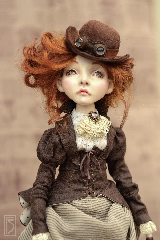 """Куклы и игрушки ручной работы. Ярмарка Мастеров - ручная работа. Купить Авторская кукла """"время приключений"""". Handmade. Стимпанк, текстиль"""
