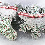 """Подарки к праздникам ручной работы. Ярмарка Мастеров - ручная работа Новогодний набор подвесок """"Волшебство"""". Handmade."""
