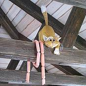 Для дома и интерьера ручной работы. Ярмарка Мастеров - ручная работа Рыжий кот под крышей. Handmade.