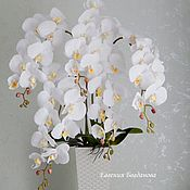 Цветы и флористика handmade. Livemaster - original item Orchid artificial. interior arrangement.. Handmade.