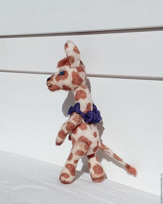 Игрушки животные, ручной работы. Ярмарка Мастеров - ручная работа. Купить Жирафик светлый. Handmade. Коричневый, коллекционная игрушка, миништоф