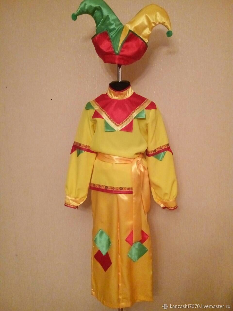 Costumes: costume of the buffoon, Carnival costumes for children, Moscow,  Фото №1