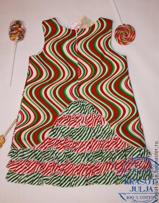 Одежда для девочек, ручной работы. Ярмарка Мастеров - ручная работа. Купить Карамельное платье для девочки. Handmade. В полоску