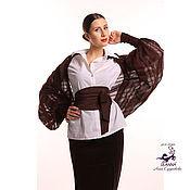 Одежда ручной работы. Ярмарка Мастеров - ручная работа Безразмерное болеро, вязаное из мягкого итальянского мохера Шоколад. Handmade.