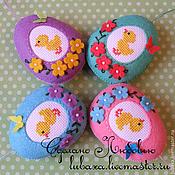 Подарки к праздникам handmade. Livemaster - original item Easter eggs out of felt with embroidery. Handmade.