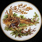 Винтаж handmade. Livemaster - original item Decorative porcelain plates