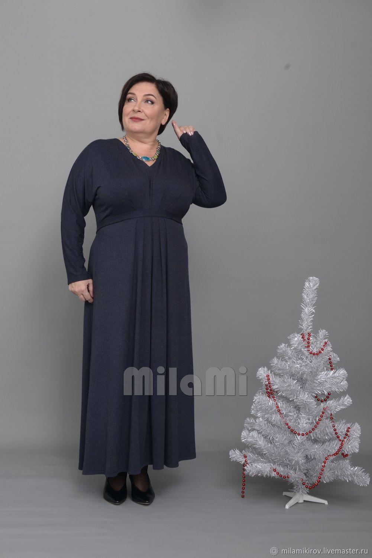 Dress with tucks under the chest with a finishing belt, melange Art. Three thousand nine hundred thi, Dresses, Kirov,  Фото №1