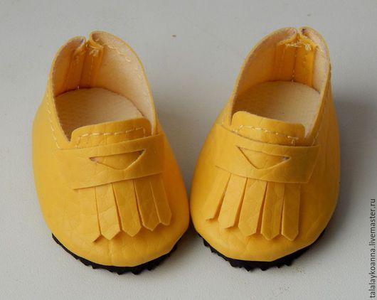 Одежда для кукол ручной работы. Ярмарка Мастеров - ручная работа. Купить Мокасины для куклы. Handmade. Обувь для кукол, мокасины, Сапожки