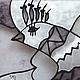 """Детская ручной работы. """"Птичка в черном и белом"""". Витражная роспись.. VD (viara). Интернет-магазин Ярмарка Мастеров. Витражная картина"""