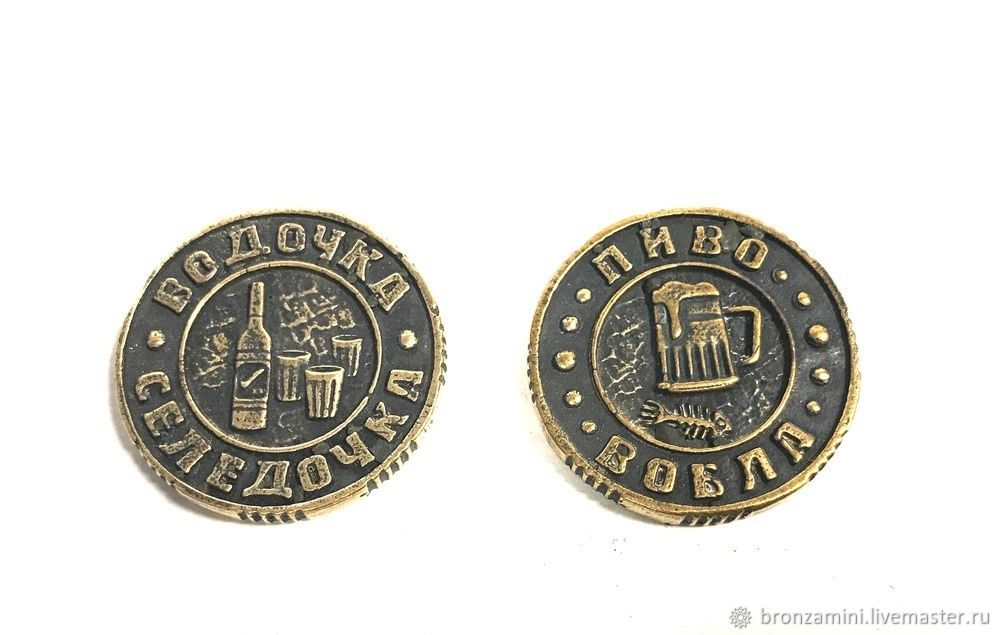 Coin Beer roach vodka herring, Souvenirs3, Kislovodsk,  Фото №1