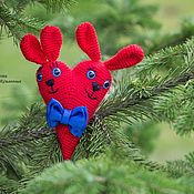 Подарки к праздникам handmade. Livemaster - original item Hares lovers heart. Handmade.