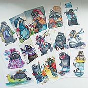 Открытки handmade. Livemaster - original item Postcards and posters, prints of paintings by Povetskay Tatiana. Handmade.