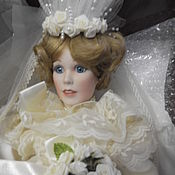 Vintage doll handmade. Livemaster - original item porcelain doll collectible Bride,hand-painted. Handmade.