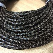 Шнуры ручной работы. Ярмарка Мастеров - ручная работа Шнур кожаный плетёный ,3 мм, темно-коричневый. Handmade.