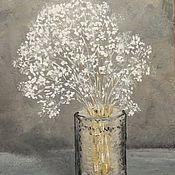 """Картины и панно ручной работы. Ярмарка Мастеров - ручная работа Картина """"Гипсофила"""". Handmade."""