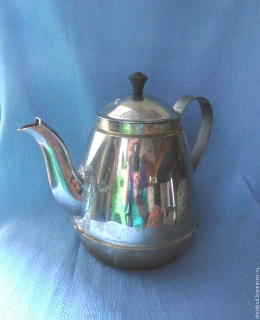 Винтажная посуда. Ярмарка Мастеров - ручная работа. Купить Старый кофейник  чайник декупаж. Handmade. Серебряный, старина, столовая